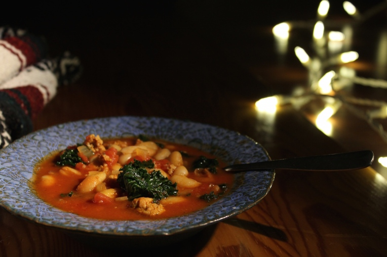 Spicy-Sausage:Kale Stew-3